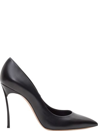 Casadei Pointy Pump With Blade Heel