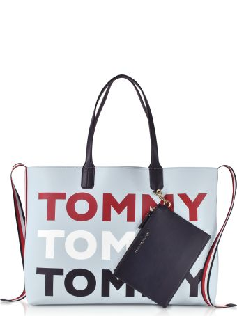 Tommy Hilfiger Light Blue Iconic Tommy Tote