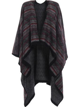 M Missoni Native American Inspired Wool Jacquard Poncho