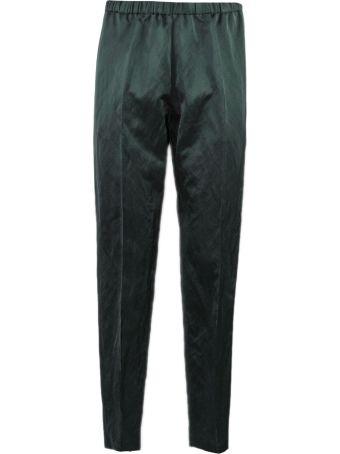 Dries Van Noten Trousers In Green Cotton Blend