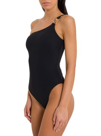 Tory Burch Gemini Link One-shoulder Swimsuit
