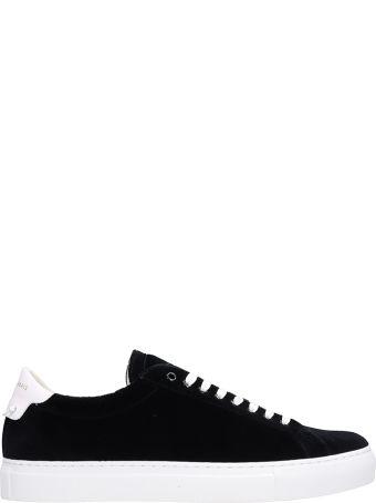 Givenchy Black Velvet Urban Street Sneakers
