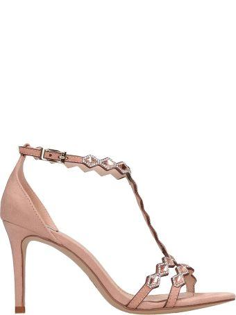 Bibi Lou Pink Suede Sandals