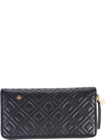 Tory Burch Black Fleming Quilted Wallet