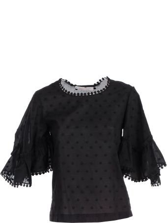 See by Chloé Embroidered Blouse