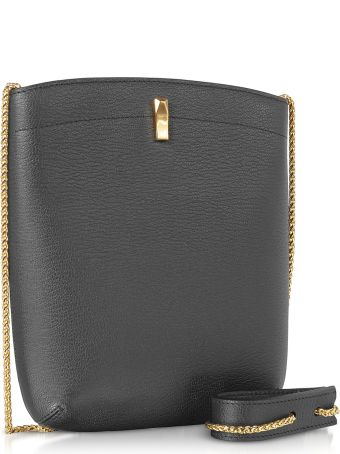 the VOLON E.z. Carry Black Leather Bag
