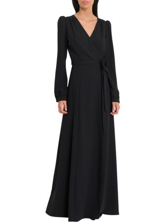Parosh Long Wrap-dress