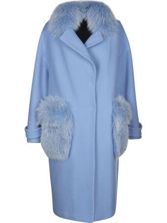 Blancha Fur Applique Oversized Coat