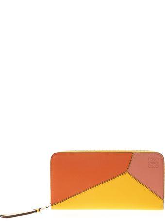Loewe Zip Around Wallet In Multicolored Leather