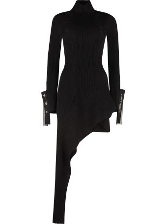Off-White Asymmetric Knit Dress