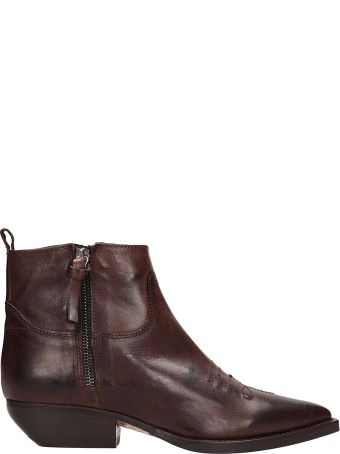 The Seller Brown Leather Texan Boots