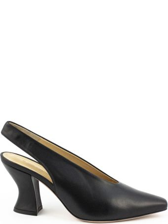 Aldo Castagna Bott Pumps In Black Leather