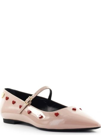 Love Moschino Nude Pink Ballet Flat