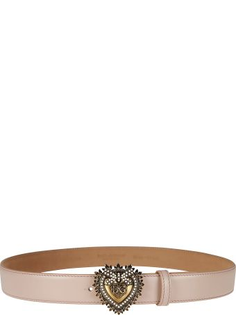Dolce & Gabbana Heart Devotion Leather Belt