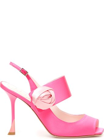 Roger Vivier Rose Button Sandals