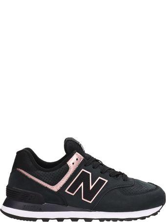 New Balance 574 Black Nabuk Sneakers