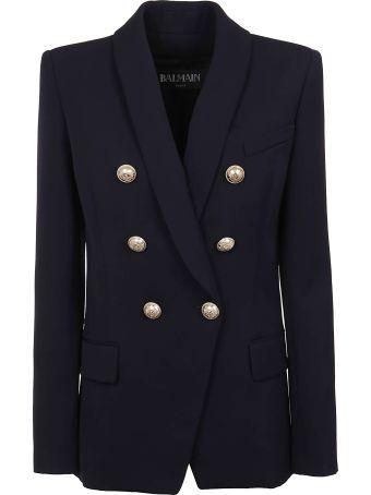 Balmain Oversized 6 Btn Wool Jacket