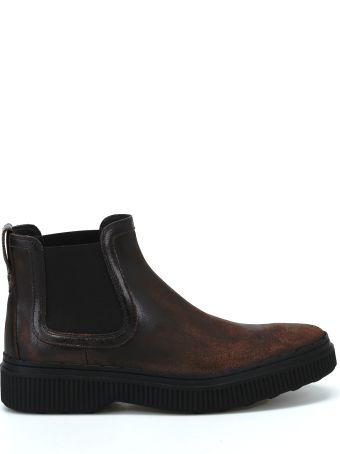 Tod's Used Effect Leather Chelsea Boots