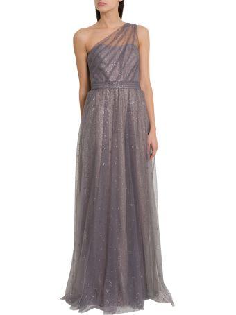 Marchesa Notte One Shoulder Floor Length Dress