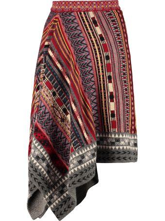 Etro Jacquard Knit Skirt