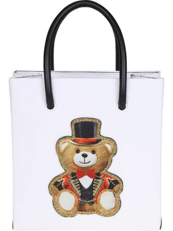 Moschino Hand Bag With Teddy Cuircus Print