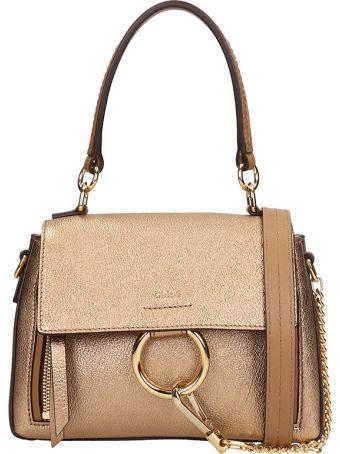 Chloé Gold Bronze Leather Mini Faye Bag