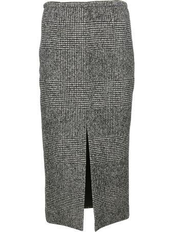 Rochas Plaid Pencil Skirt