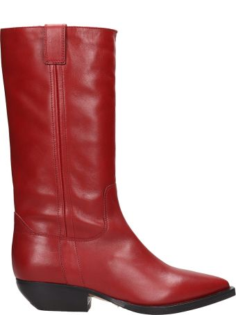 The Seller Red Leather Camperos