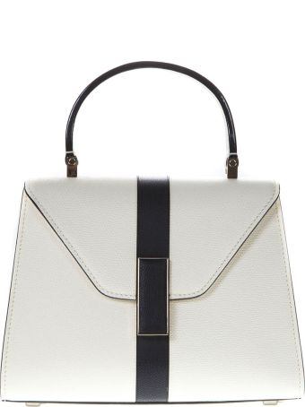Valextra White Iside Mini Bag In Leather
