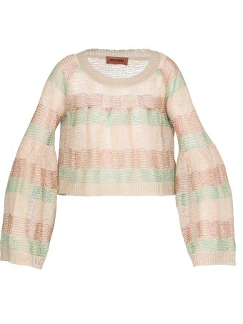 Missoni Cropped Sheer Sweater