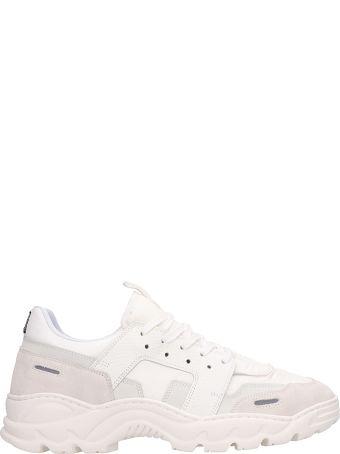 Ami Alexandre Mattiussi White Fabric Lucky 9 Running Sneakers