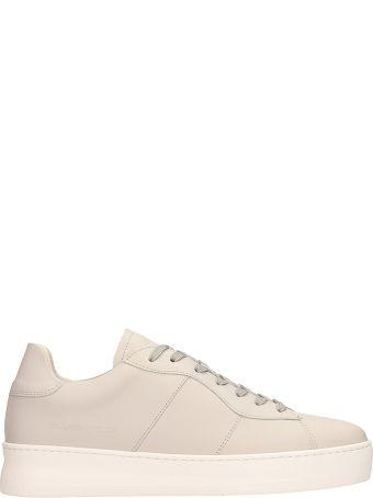 Filling Pieces Beige Leather Plain Court Light Sneakers