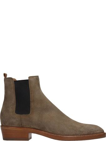 Buttero Taupe Suede Beatles Ankle Boots