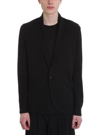 Attachment Black Cotton Cardigan