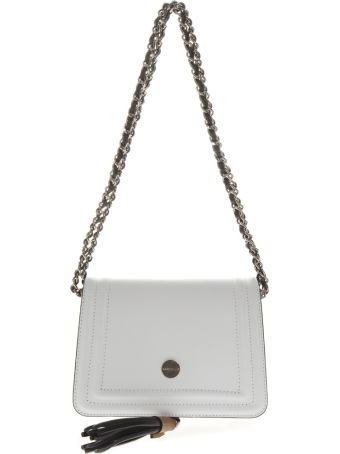 Marc Ellis Noah Shoulder Bag In White Leather