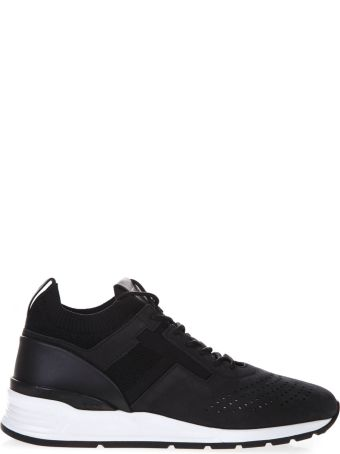 Tod's Black Perforated Leather Sneakers