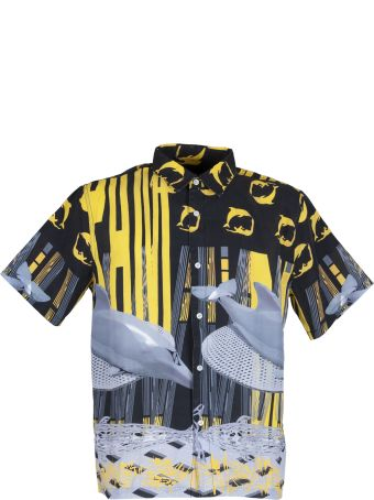 P.A.M. Pam Duo Sono Shirt Mens S/s Black/yellow