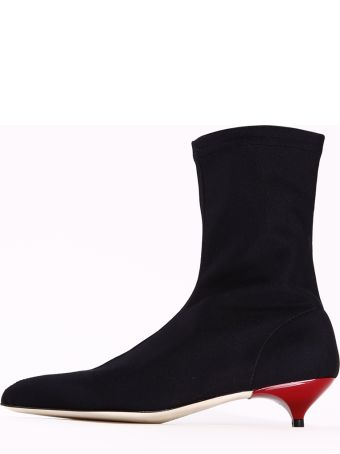 GIA COUTURE Ankle Boots Black Stretch