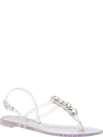 Casadei Jelly Sandals With Stones