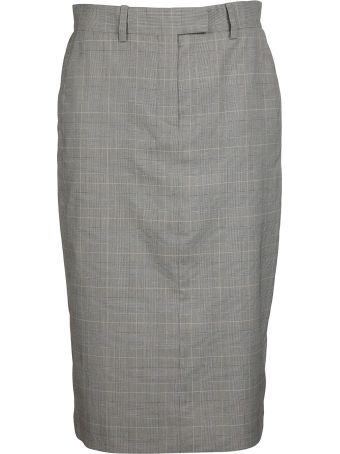 Calvin Klein Checked Slim Skirt
