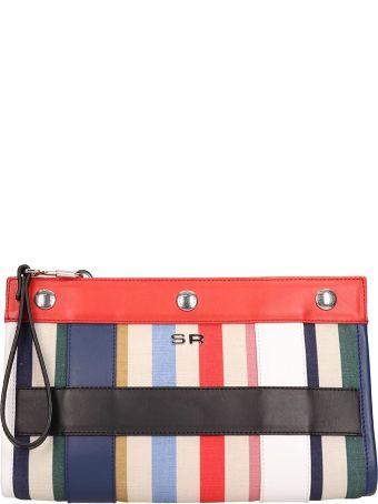 Sonia Rykiel Multicolor Canvas Cindy Clutch Bag