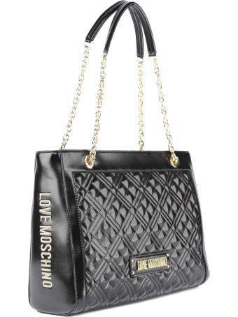 Love Moschino Black Pvc Quilted Bag