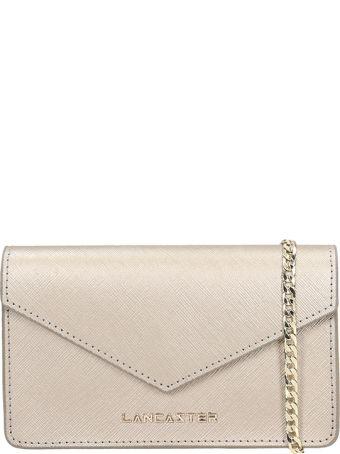 Lancaster Paris Silver Leather Mini Clutch Bag