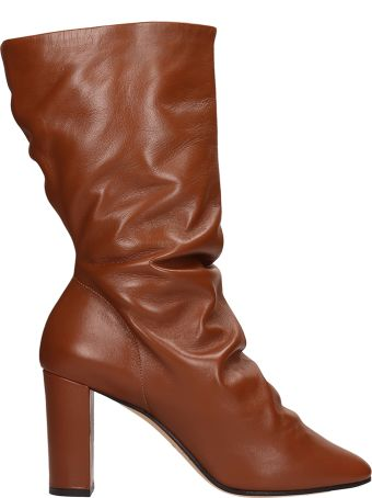 Marc Ellis Brown Calf Leather Ankle Boots