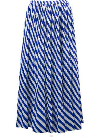 Dries Van Noten Pleated Skirt With Stripes Print