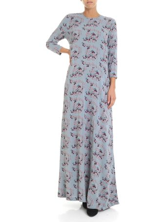 L'Autre Chose Dog Print Long Dress