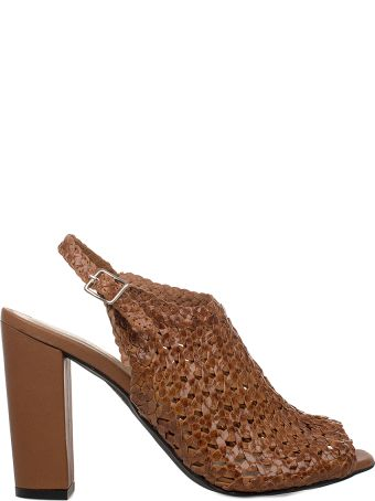 Yves Desfarge Tan Juliet Leather Heeled Sandal