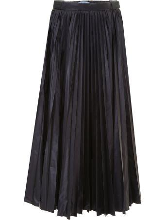 Prada Linea Rossa Pleated Nylon Skirt