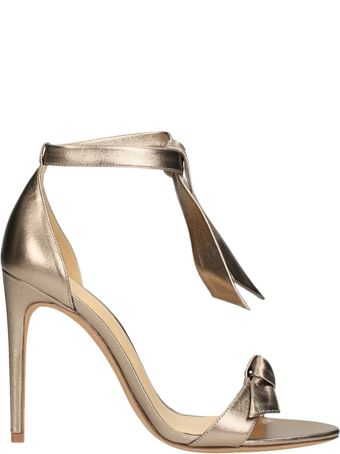 Alexandre Birman Gold Metal Leather Sandals