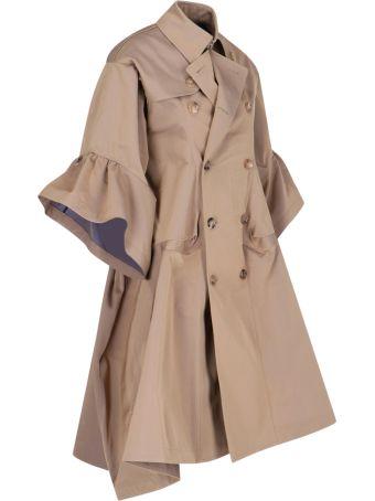 Junya Watanabe Oversize Rouches Details Trench Coat